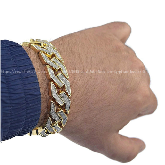 Iced Out Cuban Chain Bracelet