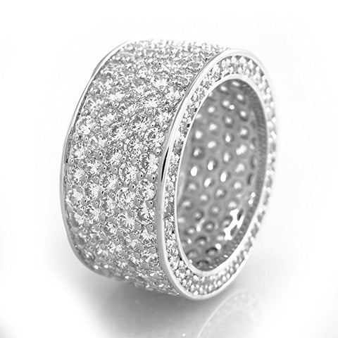 Iced Out Rhinestone Crystal Ring