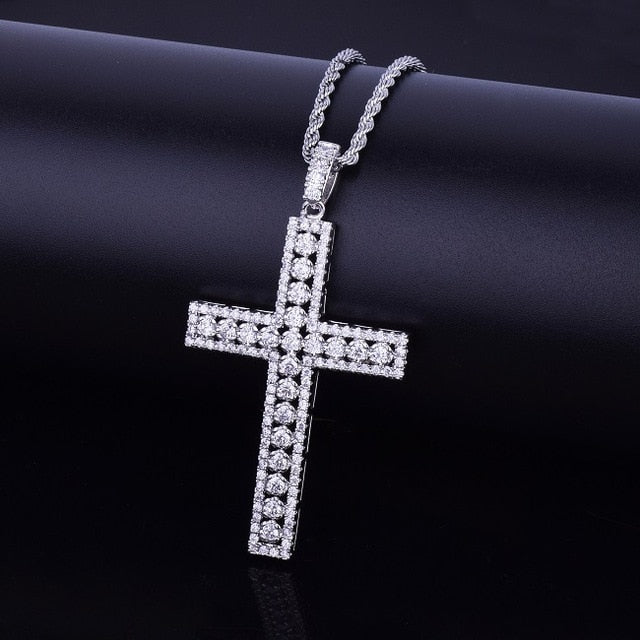 Gold Cubic Cross Chain