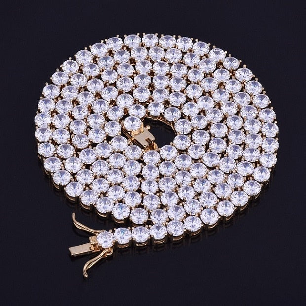4-6MM Gold Silver Tennis Chain