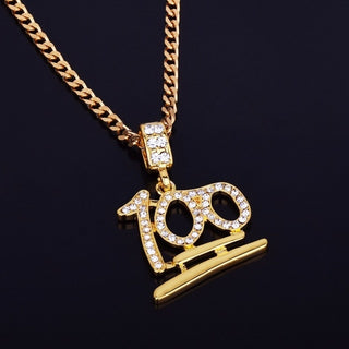 Gold 100 Logo Cuban Chain