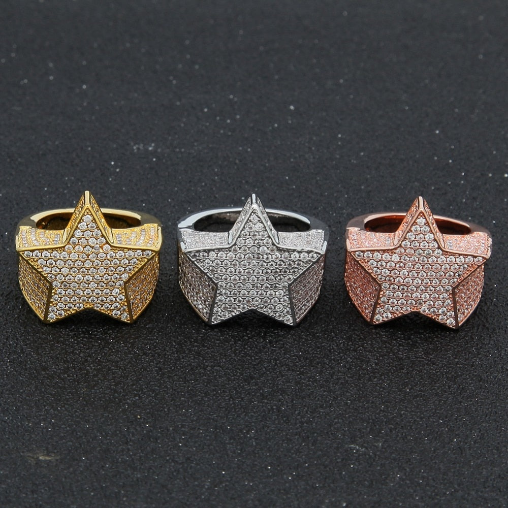 Gold Silver Star Rings