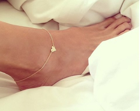 Gold Silver Heart Anklet