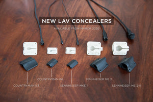 Introducing New Lav Concealers for Sennheiser and Countryman Mics
