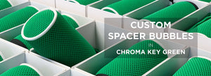 Chroma Key Green Spacer Bubble Windshields