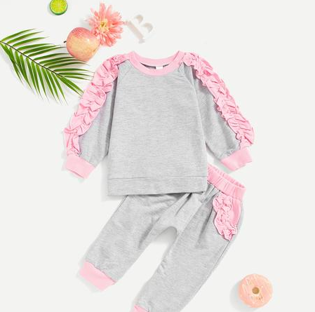 Ruffle Me Up SweatSuit