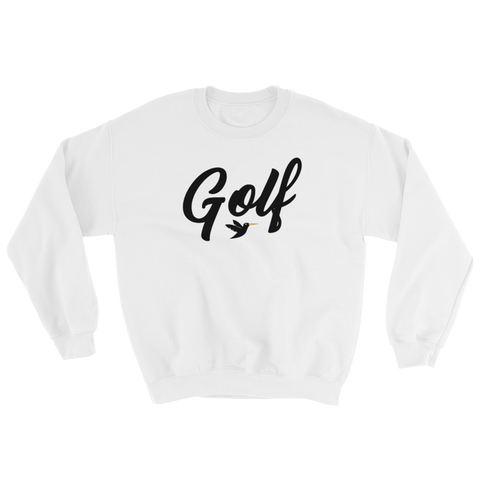 Image of Golf Sweatshirt in white from Birdie Threads