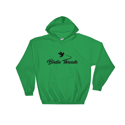 Image of Birdie Threads Hoodie. Color is Green