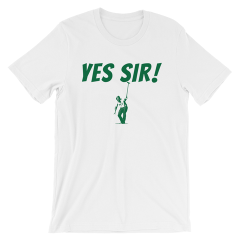 Image of Jack Nicklaus Yes Sir! White T-Shirt
