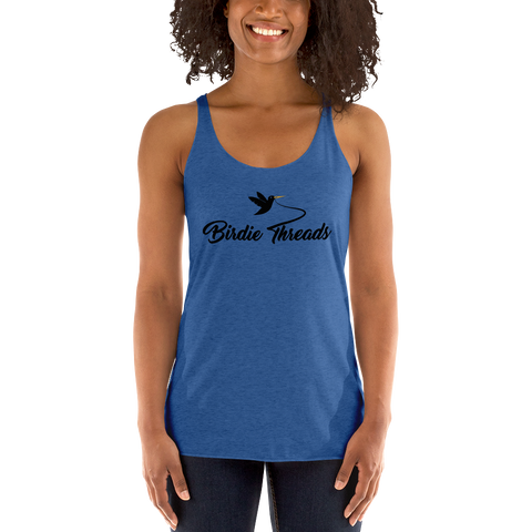 Women's Birdie Threads Blue Tank Top