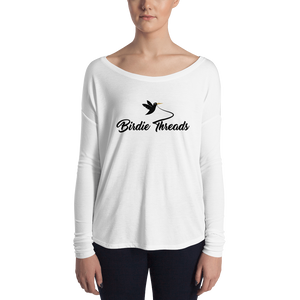 Ladies' Long Sleeve Birdie Threads White Tee