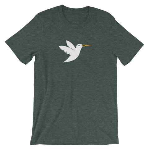 Image of Birdie Threads T-Shirt White Bird