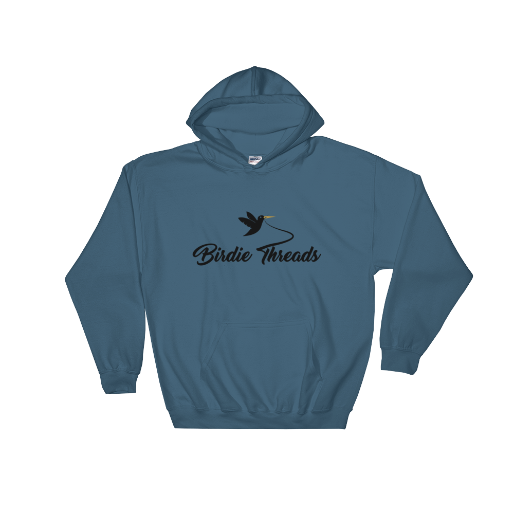 Birdie Threads Hoodie. Color is Blue