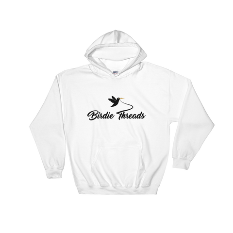 Image of Birdie Threads Hoodie. Color is White