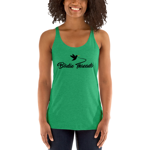 Women's Birdie Threads Green Tank Top
