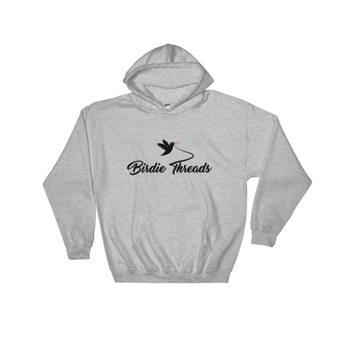 Birdie Threads Hoodie. Color is Grey