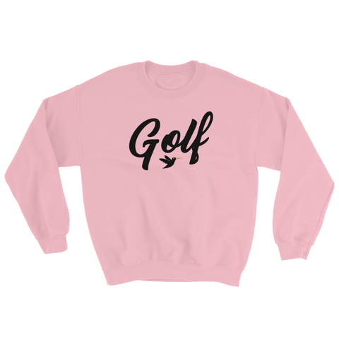 Golf Sweatshirt in pink from Birdie Threads