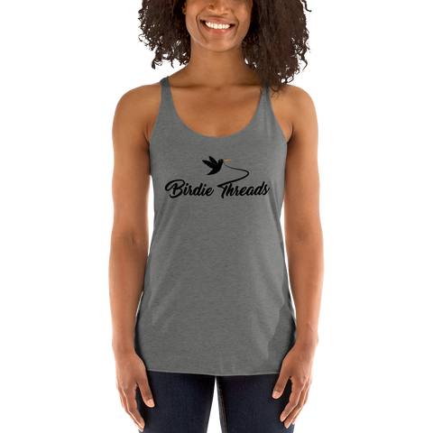 Women's Birdie Threads Grey Tank Top