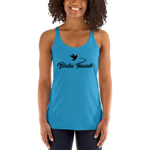 Women's Birdie Threads Turquoise Tank Top