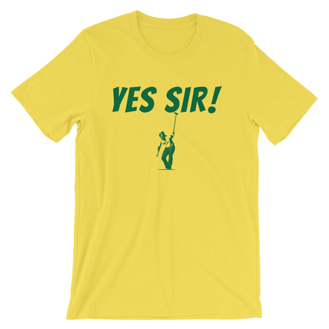 Image of Jack Nicklaus Yes Sir! Yellow T-Shirt