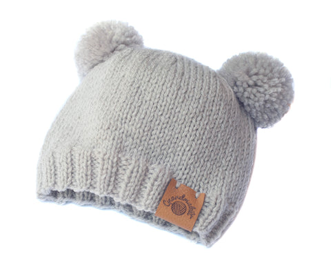 Knit baby Archie Prince Harry boy double pom cocobear bobble beanie hat kuala bear pom-pom