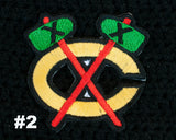 Blackhawks Hockey Logo Baby Boy Crochet Diaper Set