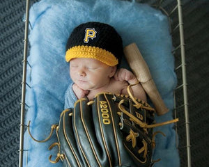 Pirates Logo Baseball Hat Baby Black and Gold
