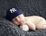 Yankees Logo Baseball Hat Baby Crochet