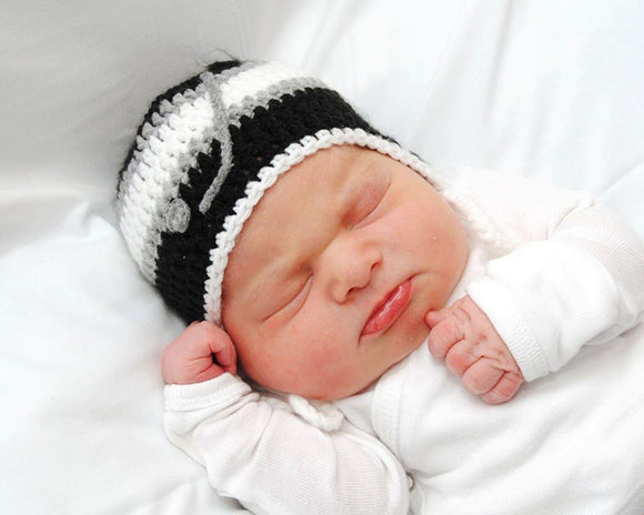 Kings Hockey Baby Boy Hat Black White Grey