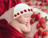 Baby Girl Crocheted Strawberry Hat