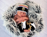 Golden Knights Hockey Logo Baby Boy Crocheted Outfit