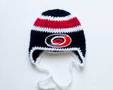 Hurricanes Hockey Baby Crocheted Hat