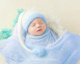 Newborn Photography Baby Boy Stocking Hat Prop