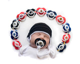 Crochet Baby Hockey Helmet & NHL Pacifier