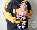 Boston Bruins Baby Boy Crochet Hockey Black Gold Clothes