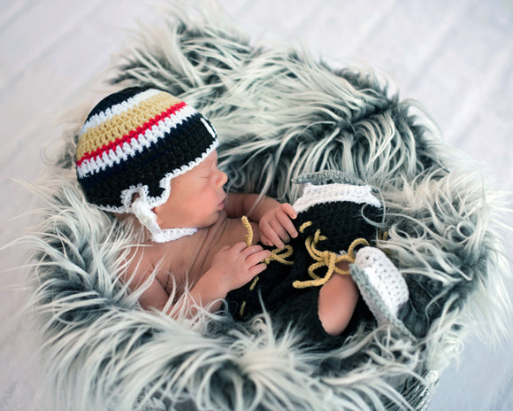 Crochet Hockey Helmet Pants Skates Vegas Golden Knights Newborn Baby Photography