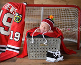 Hockey Hat with Feathers & Skates Photography Prop