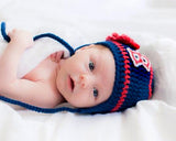 Baby Girl Crochet Boston Red Sox Baseball Photography