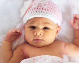 Baby Girl Crochet Braves Baseball Cap Newborn Photography