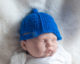 LA Dogers Baseball Hat Crocheted Royal Blue
