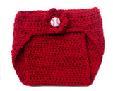 Baby Girl Baseball Crochet Diaper Cover