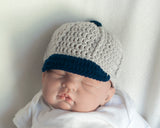 Baby Boy Baseball Cap Crocheted Baseball Hat