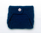 Mets Baseball Diaper Cover Crochet Navy Blue