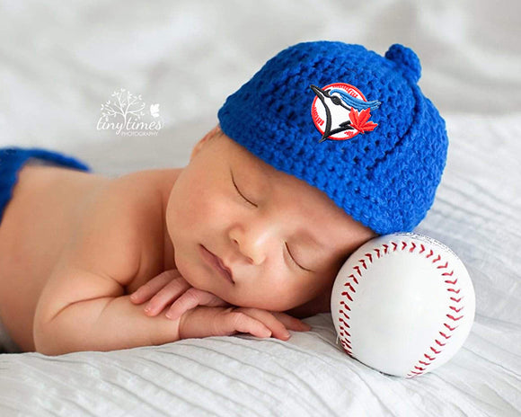 Blue Jays Baseball Logo Cap Newborn Photography Prop