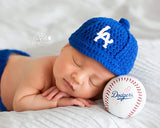 LA Dodgers Baseball Hat and Diaper Cover