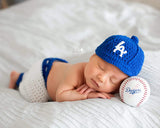 LA Dodgers Baseball  Crocheted Hat and Pants