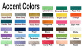 Accent color chart