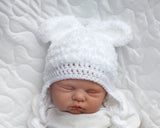 Baby Boy or Girl Bunny Crochet Fluffy Easter Hat