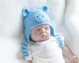 Baby Boy Blue Pig Crochet