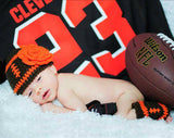 Baby Girl Football Crochet Beanie & Leg Warmers Go Browns!